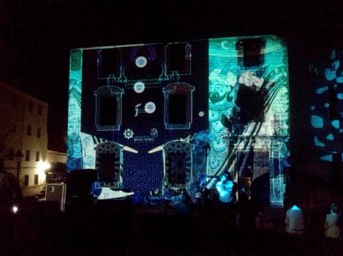 Pinball interactivo proyectado en el Palacio de Villardompardo
